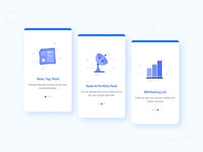 Cards Design for Startups and Investors Hub cards ui investors startups mobile app illustration design ui 2020 trends 2020
