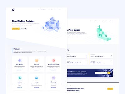 Web Design for Machine Learning and AI Platform light mode illustration clean minimal design ux ui 2020 2020 trends