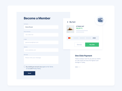 Subscription to Online Payment System subscription online payment card clean minimal design ux ui 2020 2020 trends