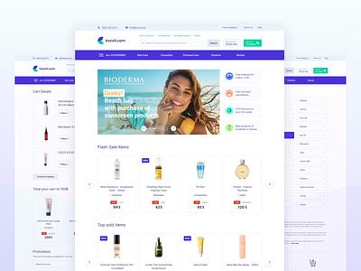 Cosmetics E-Commerce Platform e-commerce vitamins cosmetics clean minimal design ux ui 2020 trends 2020