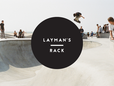 Layman's Rack mark type youth white black clothes classic branding logo retail ecommerce