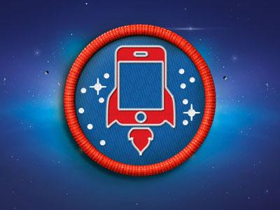 Startappz Badge startappz badge space rocket
