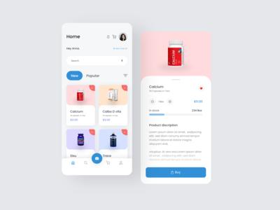 Medicine Delivery App appui minimal delivery medicine ecommerce dribbble web cards clean app typography design ux ui