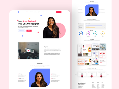 Portfolio Landing Page Designs Themes Templates And Downloadable Graphic Elements On Dribbble