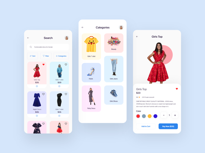 Search & Categories :E commerce app ios design animal 3d image category search mobile application ios app design ios app mobile app ecommerce colour cards app clean ui ux typography design minimal