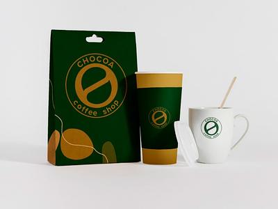 Chocoa coffee shop/ Branding packaging design paper bag packaging design packaging coffee shop coffee cup minimal illustration logo design branding branding packaging design coffee