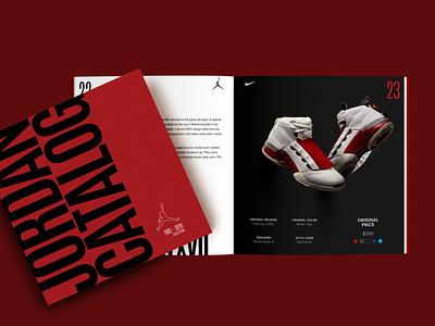 Catalog design/Jordan Catalog graphic design indesign fashion editorial design editorial vector branding logo air jordan jordan nike magazine catalogue design catalog design catalog typography minimal design