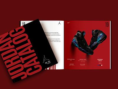 Catalog design/Jordan Catalog graphic design fashion indesign logo branding jordan magazine nike catalogue design catalog design catalog typography air jordan minimal design