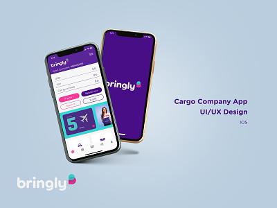 Bringly Mobile App Design branding application cargo app design app ux ui design