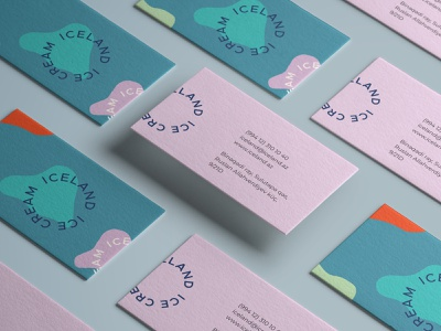 ICELAND – Business Card clean businesscard stationery letterhead business card template identity business card design vector brand identity ice cream iceland business card typography illustration minimal design branding logo graphic design