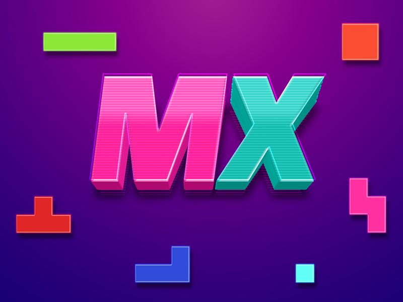 Retro vibes on the Logitech MX mx typogaphy logitech mouse branding design