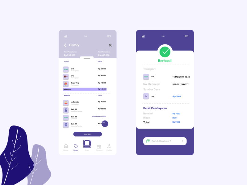 OVO (Redesign) wallet visual design uiux ui payment ovo illustration fintech finance design banking app