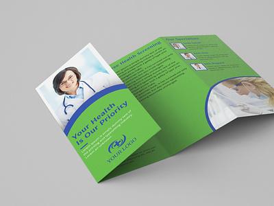 4Fold Medical brochure corporate design brand 4fold brochure branding design unique design helth medical brochure