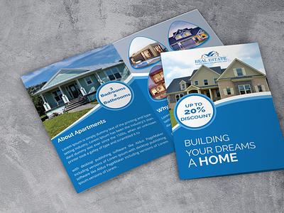 Bi-Fold Real Estate Business Brochure new design branding unique design corporate design business brochure real estate bi-fold brochure
