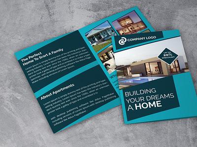 Bi Fold Real Estate Business Brochure creative design new brochure design design unique design branding business brochure real estate brochure bi fold brochure