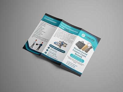 Tri Fold Corporate Brochure tri-fold new brochure graphic design creative flyer business flyer unique design branding