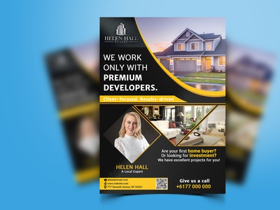 Real Estate Business Flyer real estate flyer flyer design event flyer corporate flyer creative flyer business flyer unique design branding