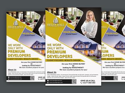 Real Estate Business Flyer samadmahbub real estate flyer design flyer design event flyer corporate flyer creative flyer business flyer unique design branding