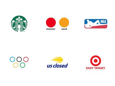 Coronavirus Logos design target olimpic nba mastercard nike mobil starbucks logotype logo corona coronavirus