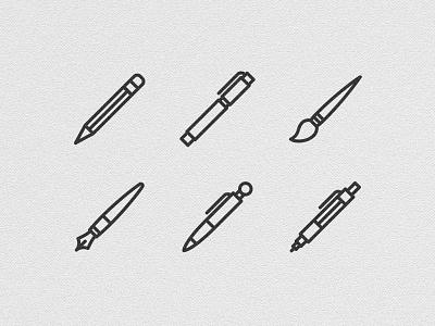 Licons icons line vector pen pencil brush art design