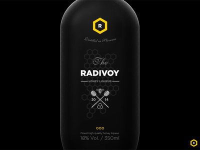 Radivoy drink liqueur alcohol logo branding packaging
