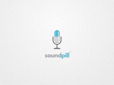 Soundpill wip logo pill microphone mic music sound
