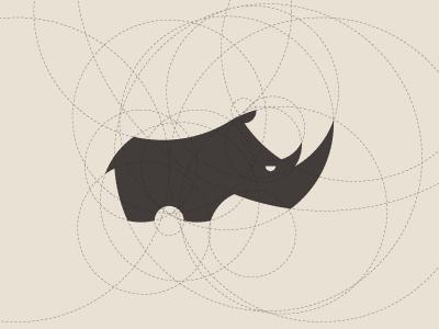 Rhiny rhino rhinoceros logo