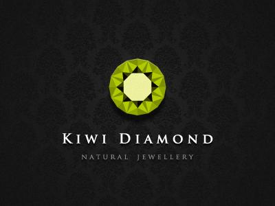 Kiwi Diamond jewellery jewelery fashion green logo elegant elegance fruit nature