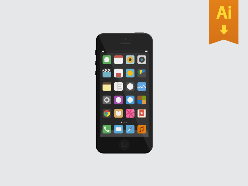 iPhone Freebie ios iphone mockup freebie ai free icons minimal ui download apple mock up design