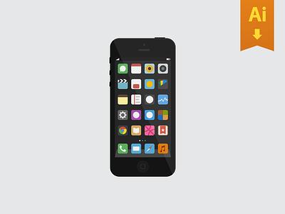 iPhone Freebie ios iphone mockup freebie ai free icons minimal ui download apple mock up design