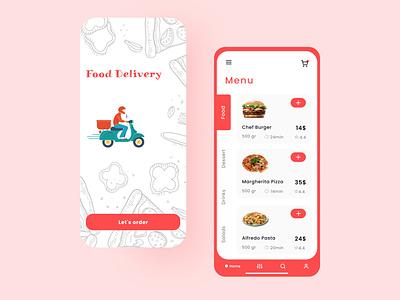 Food Delivery App website ui ux app design