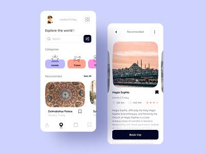 Travel App illustration graphic design app website ux ui design