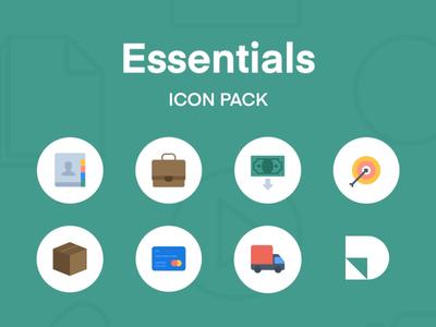 Essentials Icon Pack for Studio illustrator sketch studio download freebie free icons