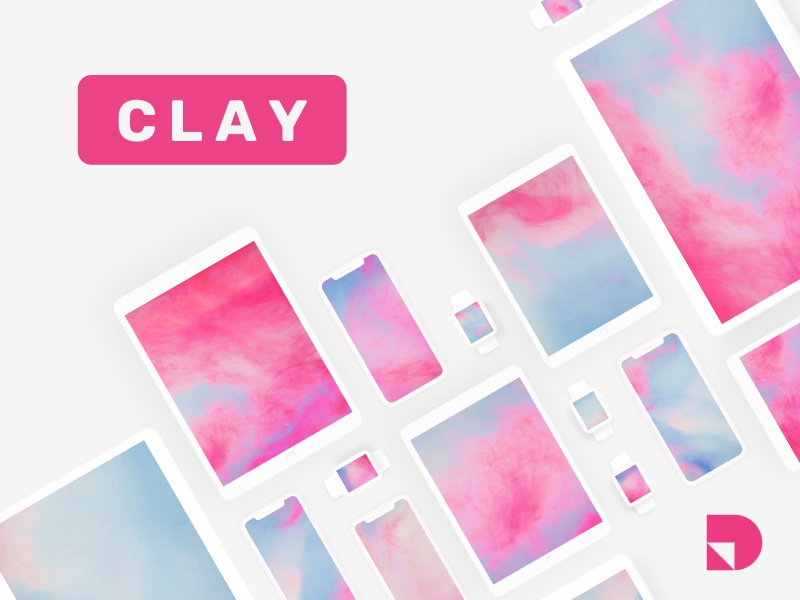 Clay—a free minimalist mockup kit for Apple devices photoshop sketch studio invision freebie ui kit free ui