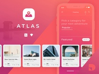 Explore Atlas: A travel app UI kit from InVision
