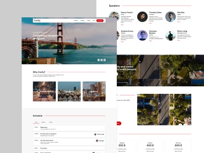 Confy - Webflow conference template design web design webflow