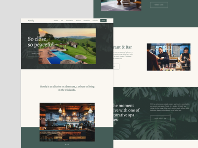 Hotely - Webflow Template hotel design website web web design webflow