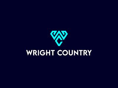 WC Logo brandauxin triangle cw logo color light white payful custom brand icon blue logo typography minimal illustration stock line art modern c w