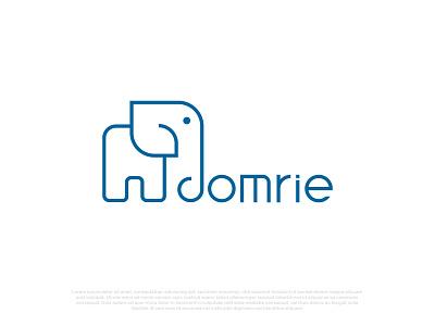 domrie blue d custom logo modern logo clean logo simple logo icon design icon d letter logo d logo logo flat business logo vector branding typography brand brandauxin elephant domrie
