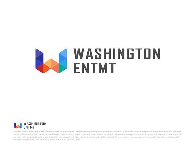 Washington e letter logo w letter logo w logo color shapes 3d logos custom logo. modern logo colorful try again company logo logo icon vector app design minimal illustration brand brandauxin washington