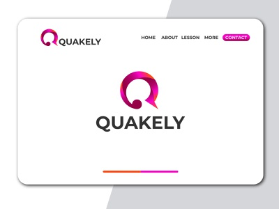 Q logo gradient 3d q letter quakely ux design homepage design graphic design gradient logo q letter logo business logo design minimal brand icon logo branding typography vector brandauxin q logo