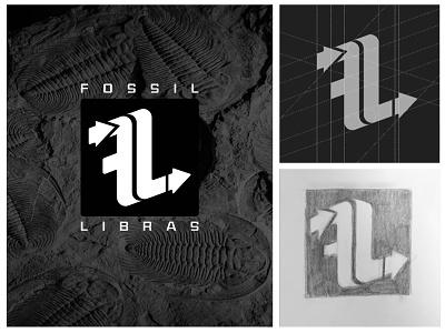 FL Logo company business branding minimal typography vector illustration pencil art flat design pen art line art blackandwhite icon f logo librais fossil brand brandauxin fl logo flat