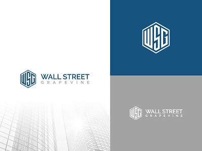 WSG stock geometric modern logo business logo brand identity custom logo blackandwhite ws wsg minimal poligon logo branding flat typography illustration brand vector icon brandauxin