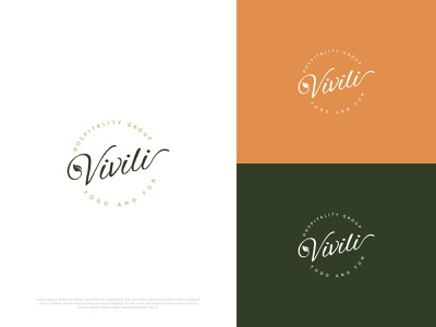 Vivili clean simple design v logo custom logo modern logo rounded leaf logo leaf vivili design logo branding flat minimal typography illustration brand vector icon brandauxin