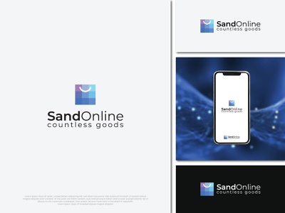 Sand Online brand identity brand design iconography icons aplication app online store online shop design logo branding flat minimal typography illustration icon brand vector brandauxin