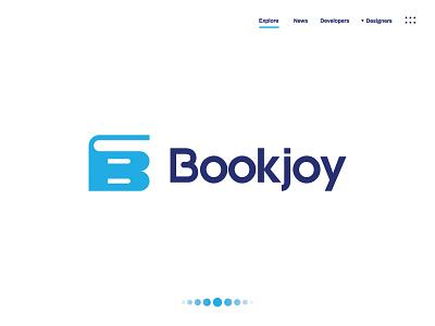 Bookjoy custon clean book design nootbook noot book cover modern book logo design logo branding flat minimal typography illustration brand vector icon brandauxin
