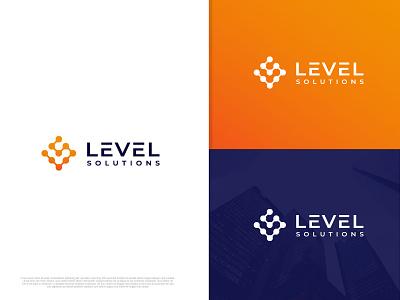 Level modern clean cudtom patern circle business logotype l letter l logo design logo branding flat minimal typography illustration brand vector icon brandauxin