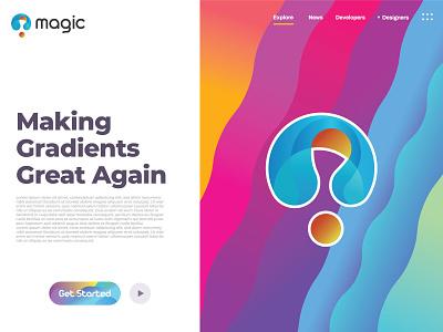 Magic custom modern 3d colorful m logo abstract music magic business logo design logo branding flat minimal typography illustration brand icon vector brandauxin