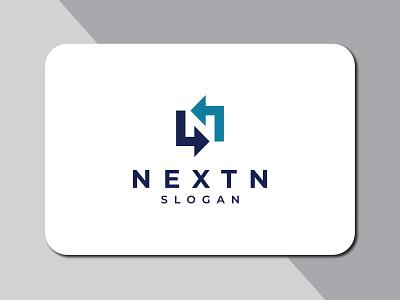 Nextn flat logo presentation river clear logo simple recycle n letter logo n letter n logo design logo branding flat minimal typography illustration brand vector icon brandauxin