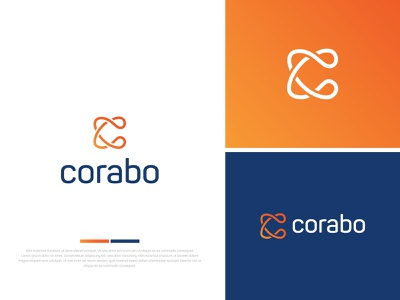 Corabo pro c c logo clean ui design minimal branding logo graphic design typography brand illustration icon vector brandauxin